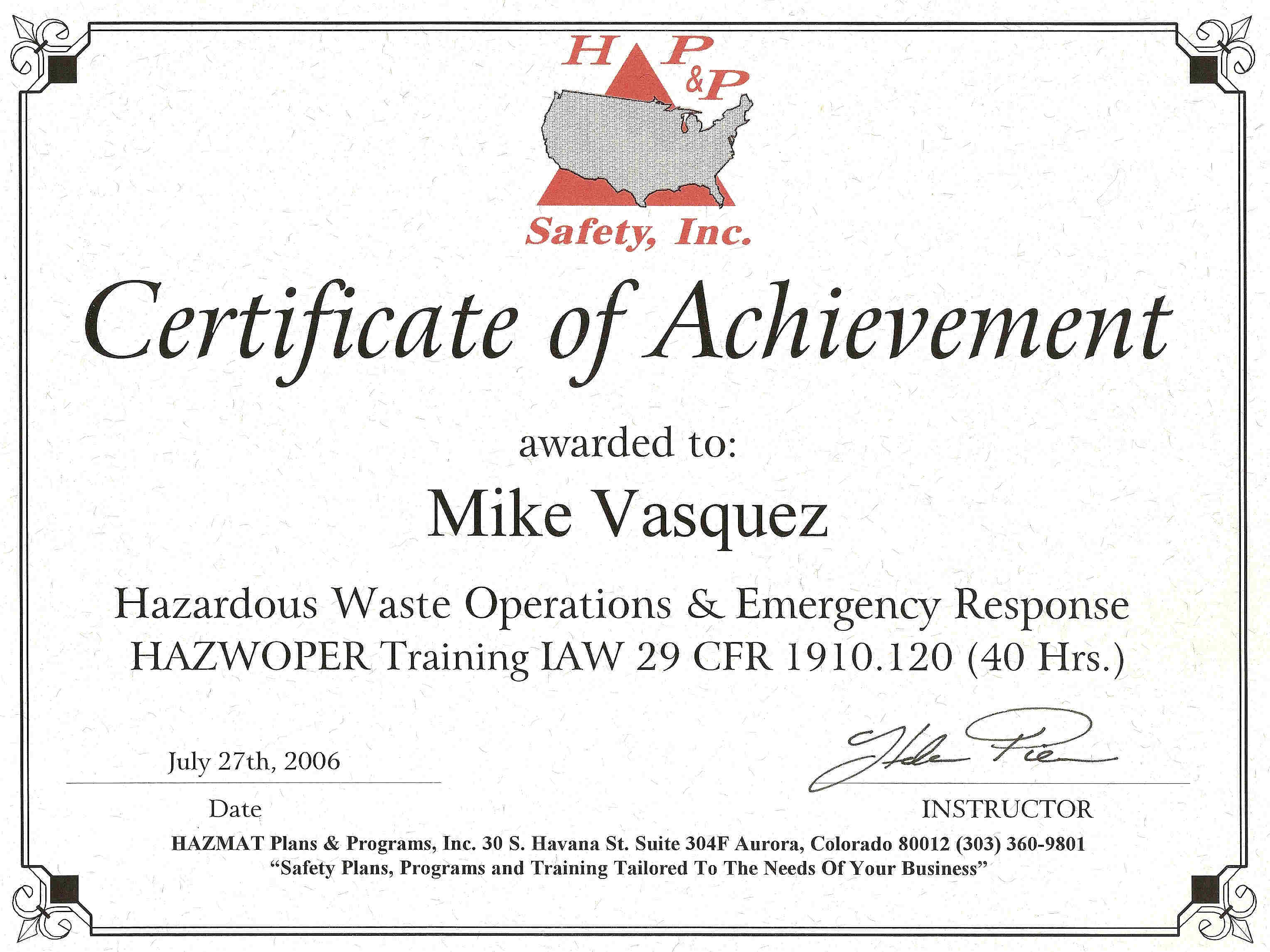 refresher certificates course hazwoper annual shelf topshelf